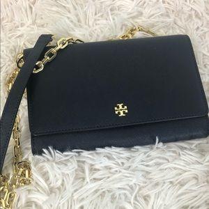 Tory Burch Navy wallet cross body purse